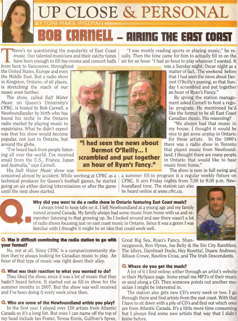 Newfoundland Herald Interview